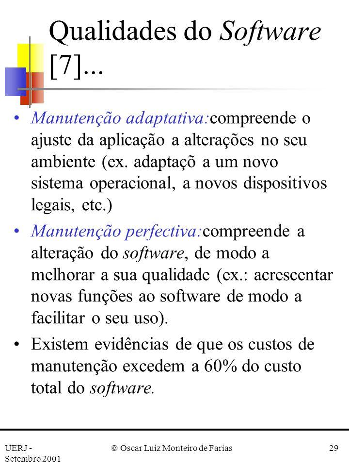 Qualidades do Software [7]...